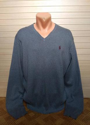 Кофта джемпер свитер pima cotton пима котон polo ralph lauren ☕ размер l/наш 50р