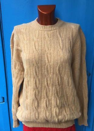 Тёплый в косы свитер от benetton