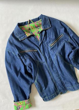 Куртка джинсовая джинсовка ветровка синяя