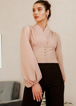 Стильная, оригинальная блузка в стиле корсета на высокий талии💕
