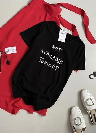 Новая стильная хлопковая свободная футболка с надписью размер хс-с