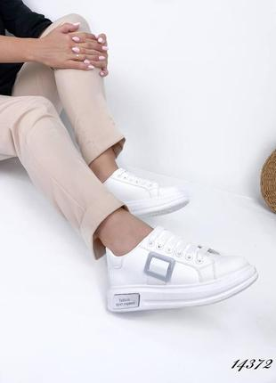 Рр 37-41. белые кроссовки кеды