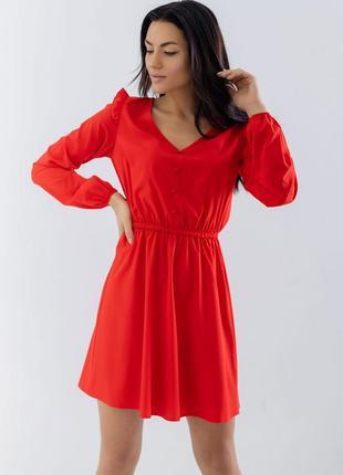 Короткое платье длинный рукав на пуговицах
