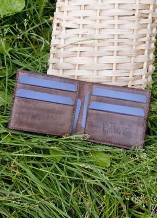 Кожаное портмоне кошелек ручной работы