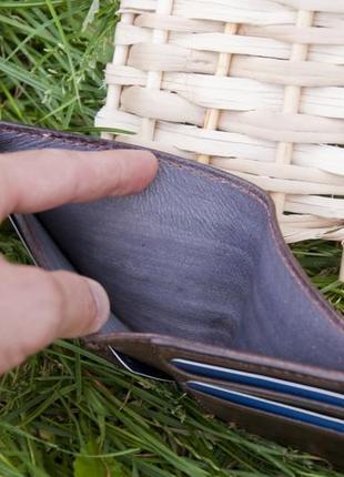 Кожаное портмоне кошелек ручной работы4 фото
