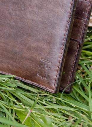 Кожаное портмоне кошелек ручной работы5 фото