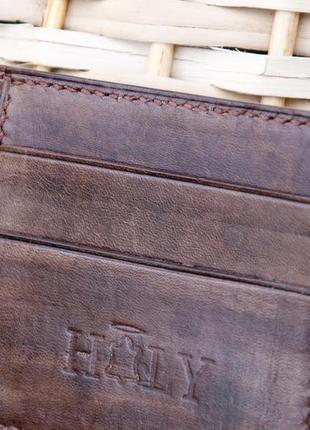 Кожаное портмоне кошелек ручной работы3 фото
