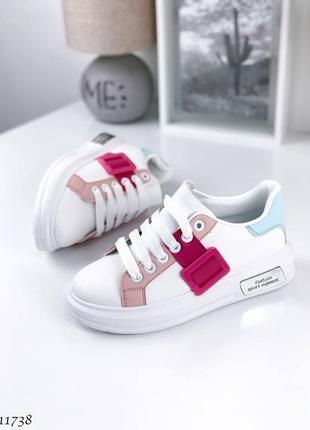 Удобные женские белые кроссовки  bachili  🌿
