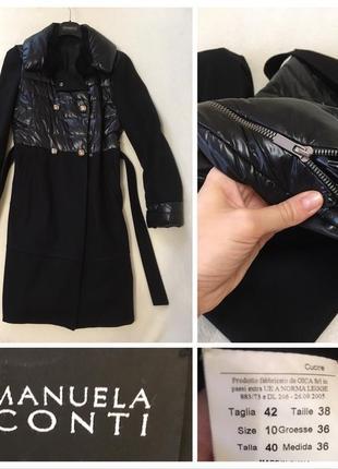 Стильное женское пальто manuela conti италия оригинал, оригинал,  premium wool, утеплённое натуральным пухом.