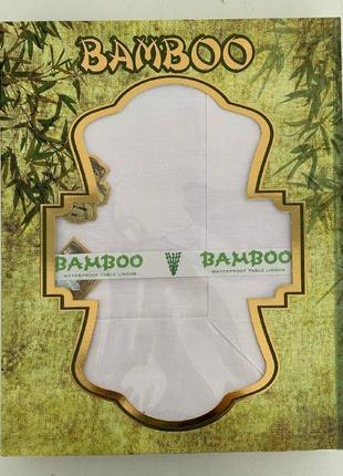 Скатерть bamboo 160х220 см белая 698758
