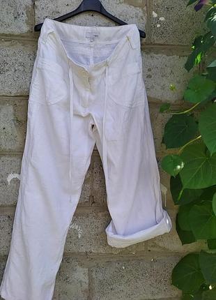Брюки летние,белые,лен,размер 10r