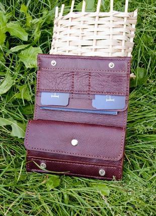 Кожаный портмоне кошелек ручная работа