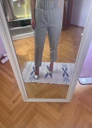М'ятні штани на високу талію