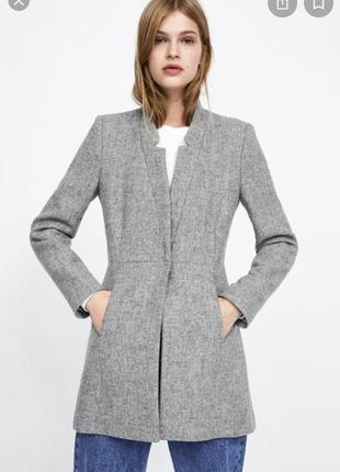 100% шерстяное пальто от zara