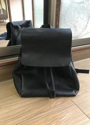 Черный рюкзак zara