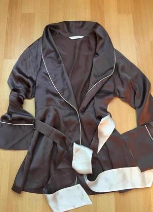 Мини халатик  рубаха шелк