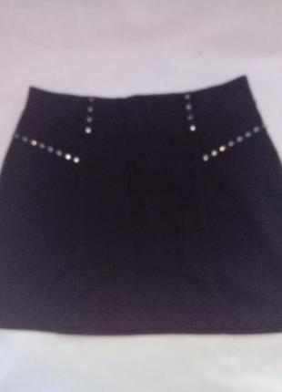 Школьная юбка трикотажная юбка