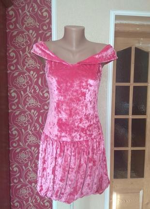 Плаття велюрове,розмір s