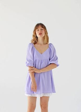 Платье из 100% хлопка с кружевом