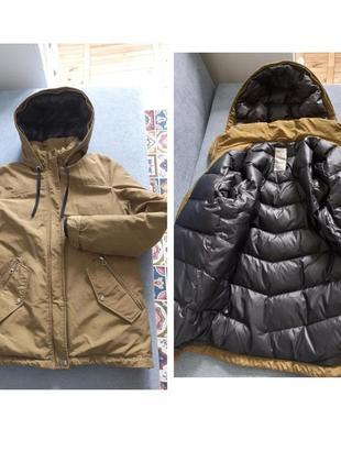 Натуральный пуховик парка куртка