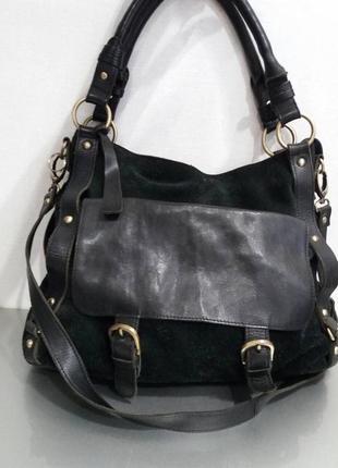 Кожаная сумка clarks оригинал, 100% натуральная кожа