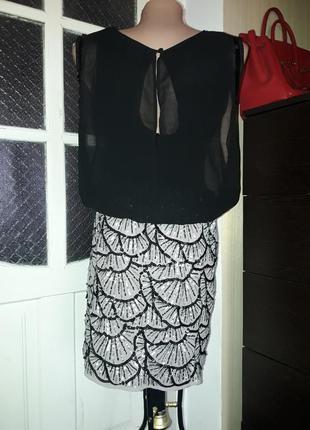 Стильное  нарядное коктейльное платье warehouse паетки