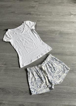 🔥 скидки 🔥 пижама футболка + шорты esmara для дома и сна
