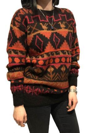 Вязаный свитер 100% шерсть альпака
