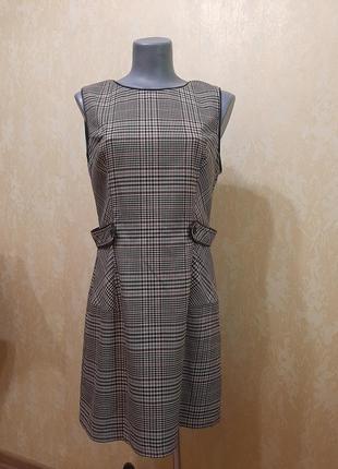 Трендовое платье в клетку 14 размер