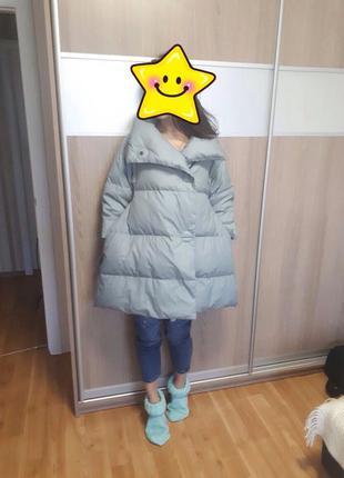 Пуховик куртка зимняя дизайнерская зефирка одеяло оверсайз эксклюзив