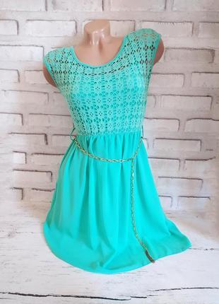 Яркое шифоновое платье летнее, шифоновый сарафан
