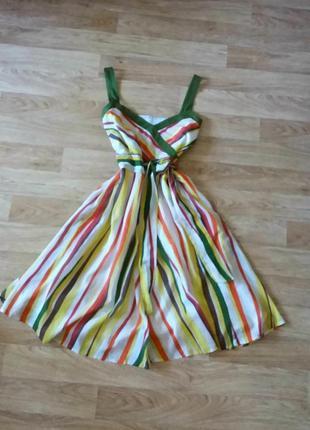 Платье миди (сарафан) в полоску, сукня міді, 100% хлопок