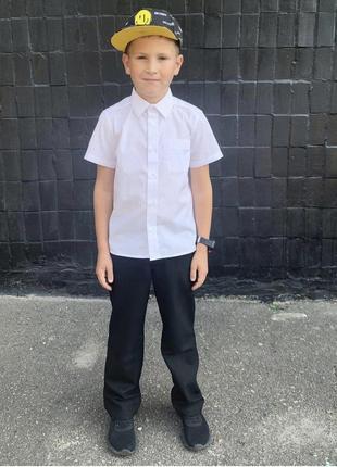 Чёрные школьные брюки на рост 128