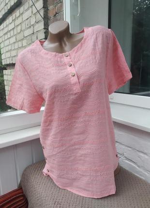 Блуза с коротким рукавом прошва кроше