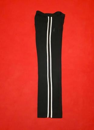 Классическое черные брюки с лампасами подростковый р 34 xs франция