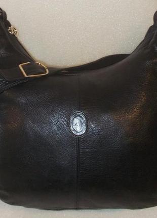 Большая объёмная сумка *l a* натуральная кожа