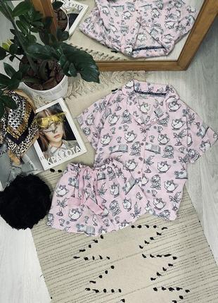 Піжамка костюм для дому з натуральної тканини від disney🌿