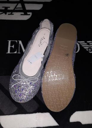 Нарядные свадебные туфли туфельки балетки чешки фирма next