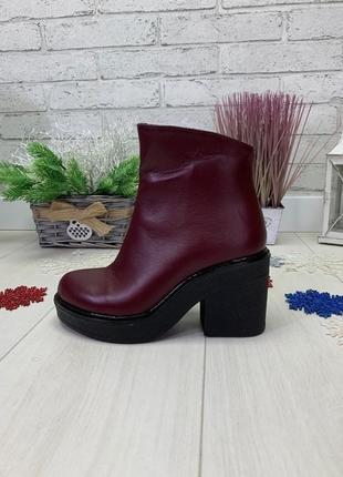 36-41 рр деми / зима ботильоны, ботинки на устойчивом каблуке натуральная замша/кожа