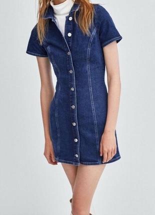 Джинсовое мини-платье zara