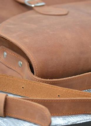 Сумка седло из натуральной кожи2 фото