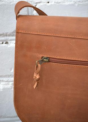 Сумка седло из натуральной кожи5 фото