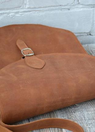 Сумка седло из натуральной кожи3 фото