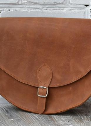 Сумка седло из натуральной кожи4 фото
