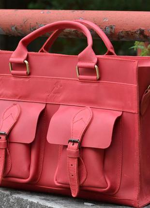 Кожаная сумка из кожи крейзи хорс