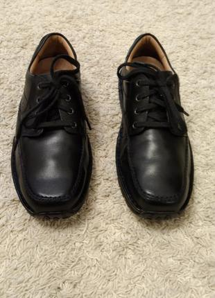 Туфли кожаные clarks 42 ,5( ,8 1/2) туфли ботинки кожаные