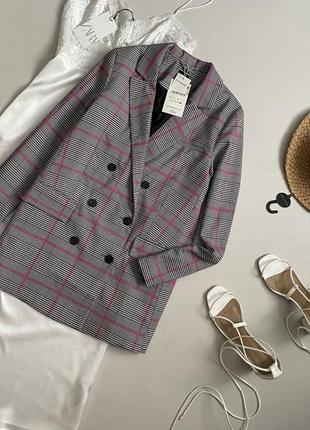 Новый трендовый двубортный блейзер / удлиненный пиджак