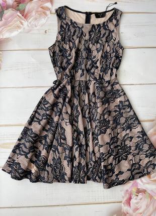 Нежное гипюровое платье клеш