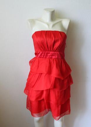 Vila красное платье