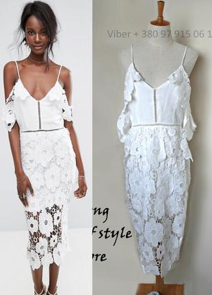 Missguided кружевное платье миди